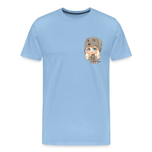 Dog Girl Man T-Shirt - Männer Premium T-Shirt