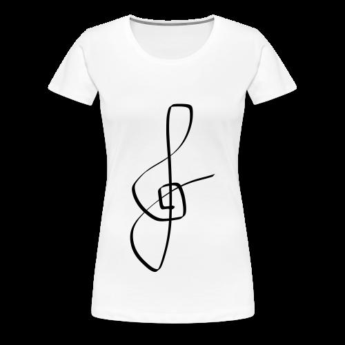 Damen-Shirt mit Notenschlüssel - Frauen Premium T-Shirt