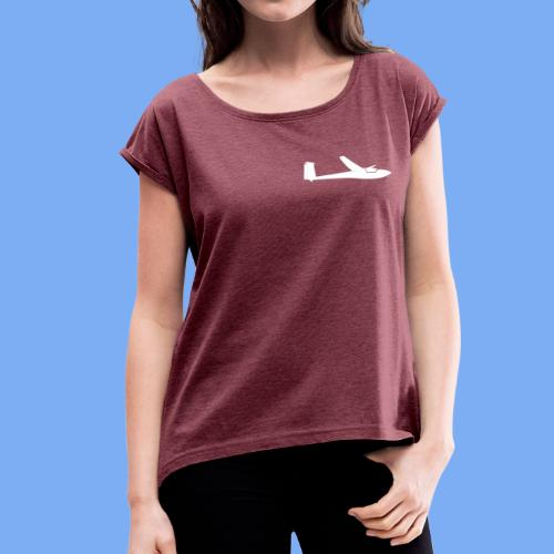 Segelflugzeug Club Libelle glider sailplane clothing apparel - Women's T-Shirt with rolled up sleeves