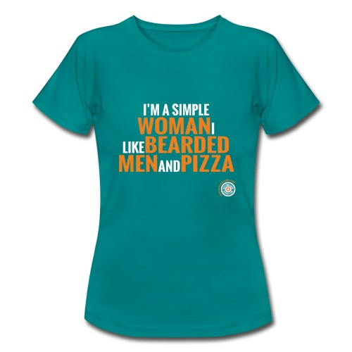 Beards and Pizza - Vrouwen T-shirt