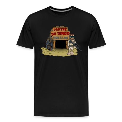 Le luxe du Dingo - Grand logo face - T-shirt Premium Homme
