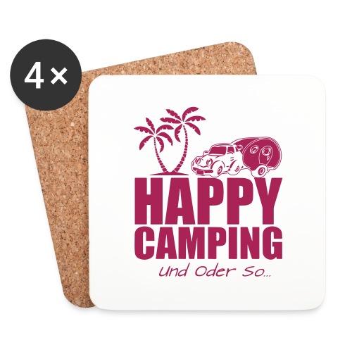 Happy Camping Untersetzer - Untersetzer (4er-Set)