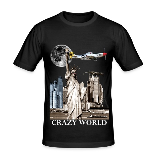 T-shirt Homme Crazy World - T-shirt près du corps Homme