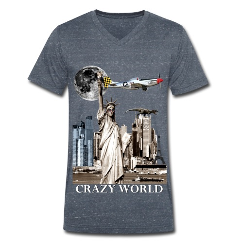 T-shirt Homme Crazy World - T-shirt bio col V Stanley & Stella Homme