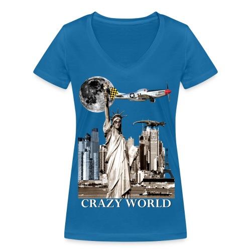 T-shirt Femme Crazy World - T-shirt bio col V Stanley & Stella Femme