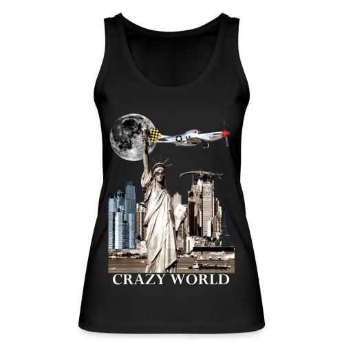 T-shirt Femme Crazy World - Débardeur bio Femme
