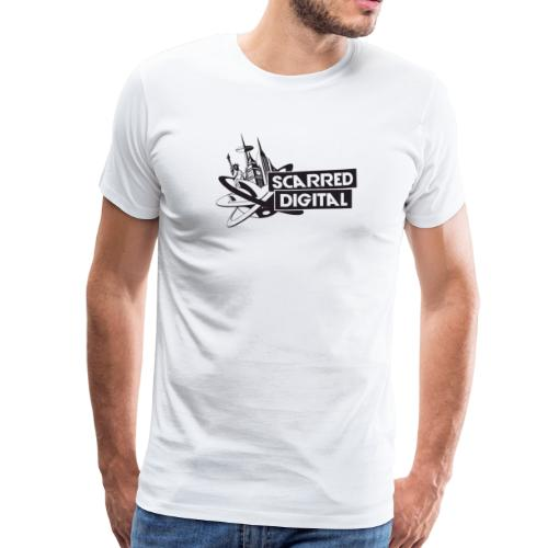 NEW Scarred Digital T-Shirt - Men's Premium T-Shirt