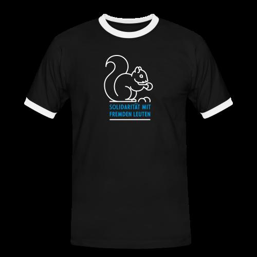 Solidarität mit fremden Leuten - Männer Kontrast-T-Shirt