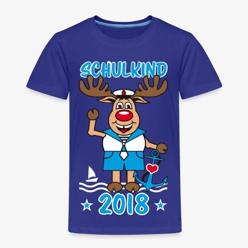 Schulkind 2018 Hirsch Rudi Matrose Anker T-Shirt 10 - Kinder Premium T-Shirt