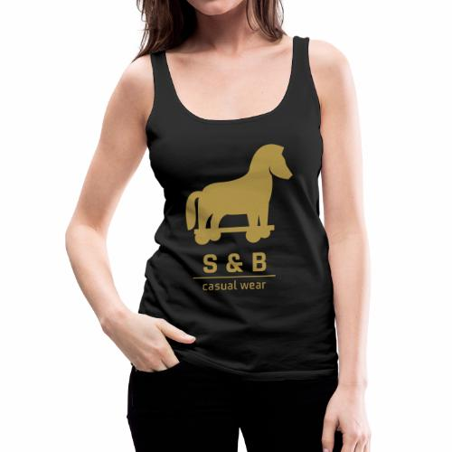 Trojan Bling Bling - Gold - Female Top - Frauen Premium Tank Top