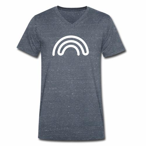 DBNA Regenbogen mit URL auf dem Rücken - Männer Bio-T-Shirt mit V-Ausschnitt von Stanley & Stella