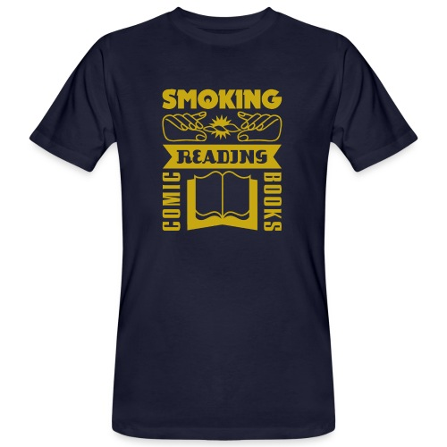 Smoking & Reading - Männer Bio-T-Shirt