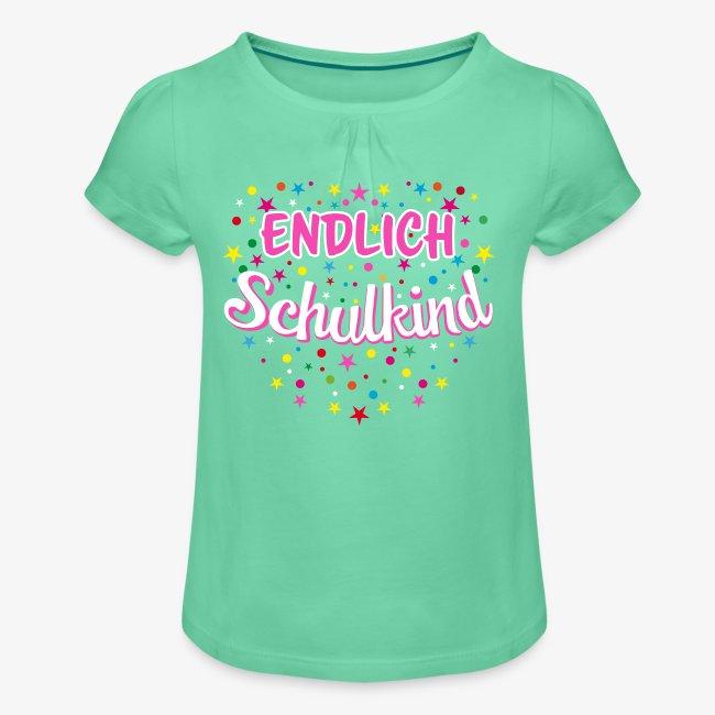 Endlich Schulkind pink Mädchen T-Shirt 14