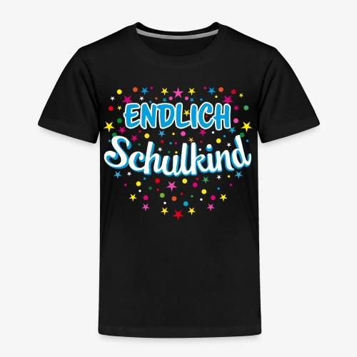 Endlich Schulkind blau Junge T-Shirt 15 - Kinder Premium T-Shirt