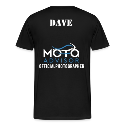 Men's Moto Advisor Black TShirt - Men's Premium T-Shirt