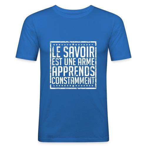 T-Shirt FIT - Le Savoir est une Arme - T-shirt près du corps Homme