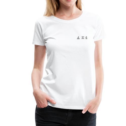 Frauen Shirt Icon weiß - Frauen Premium T-Shirt