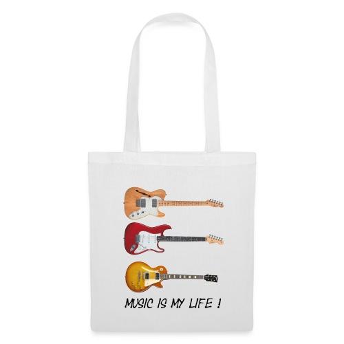 Stoffpose - Music is my life - Stoffveske