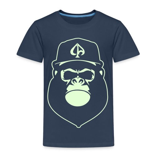 Navy/Glow (Kids) - Kinder Premium T-Shirt