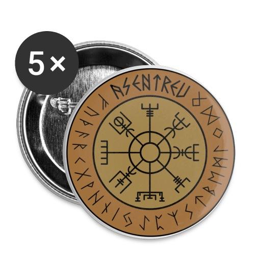 Asentreu Vegvisir Button - Buttons klein 25 mm