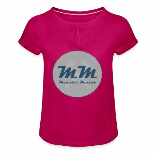 Monster Mottek Logo Shirt Kinder - Mädchen-T-Shirt mit Raffungen
