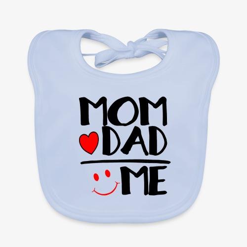 Baby Bio-Lätzchen Mom + Dad = Me - Baby Bio-Lätzchen