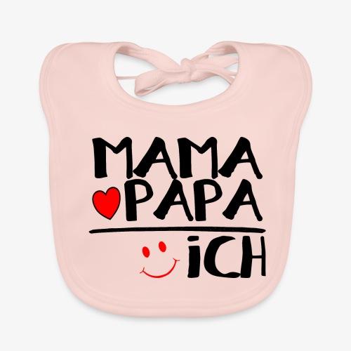 Baby Bio-Lätzchen Mama + Papa = Ich - Baby Bio-Lätzchen