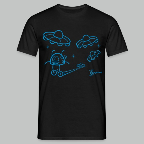 UFO & Robot from Angeland - Men's T-Shirt