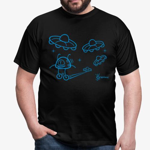 UFO & Robot from Angeland - Men's T-Shirt