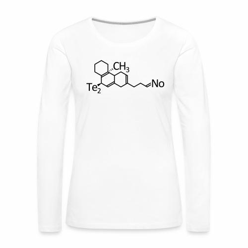 Techno Molekül - langarm Shirt - Frauen Premium Langarmshirt