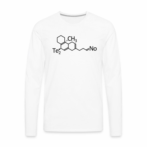 Techno Molekül - langarm Shirt - Männer Premium Langarmshirt