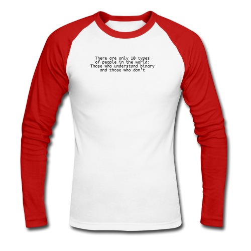 Unterstand binary [hack] - Men's Long Sleeve Baseball T-Shirt