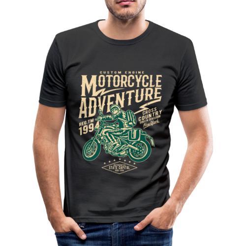 Aventura en moto - Camiseta ajustada hombre