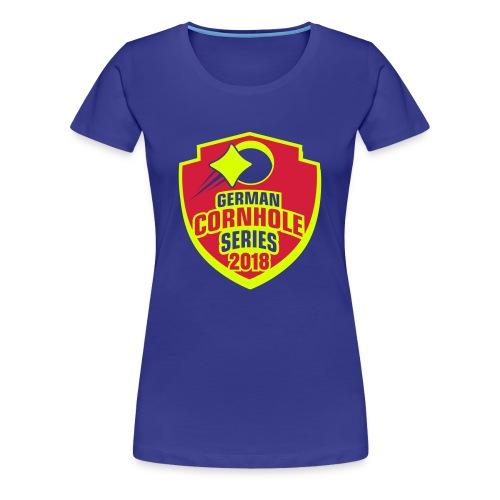 German Cornhole Series 2018 - WOMEN Special NEON - Frauen Premium T-Shirt