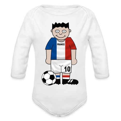 Football France enfants - Organic Longsleeve Baby Bodysuit