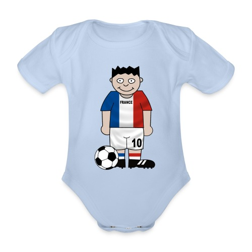 Football France enfants - Organic Short-sleeved Baby Bodysuit
