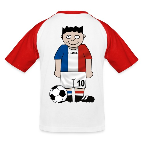 Football France enfants - Kids' Baseball T-Shirt