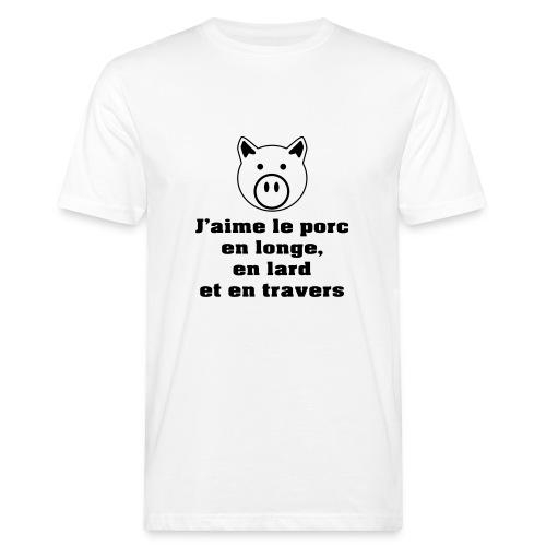 longe-lard-travers-NB - T-shirt bio Homme