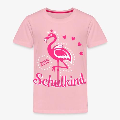 Schulkind 2018 Flamingo Sternchen Herzchen T-Shirt 17 - Kinder Premium T-Shirt