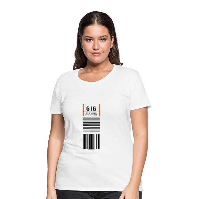 2e5964bcea76e7 Flughafen Rio de Janeiro GIG - Frauen T-Shirt (runder Ausschnitt)