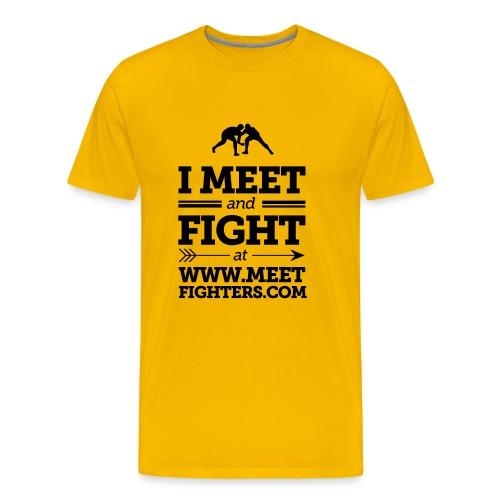 Meet amd Fight / Fist Light T-shirt - Men's Premium T-Shirt