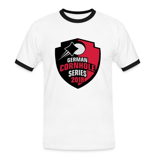German Cornhole Series 2018 - MEN2 - Männer Kontrast-T-Shirt