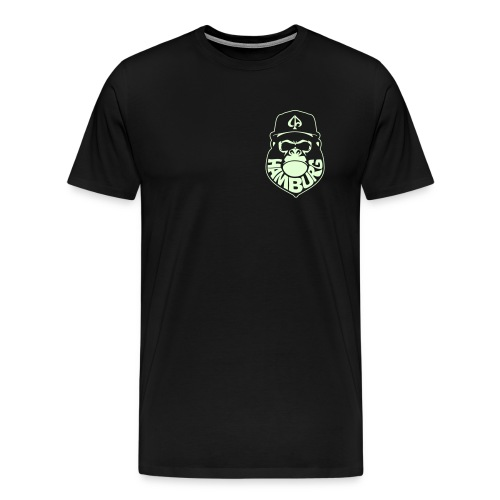 Black/Glow Small Logo - Männer Premium T-Shirt