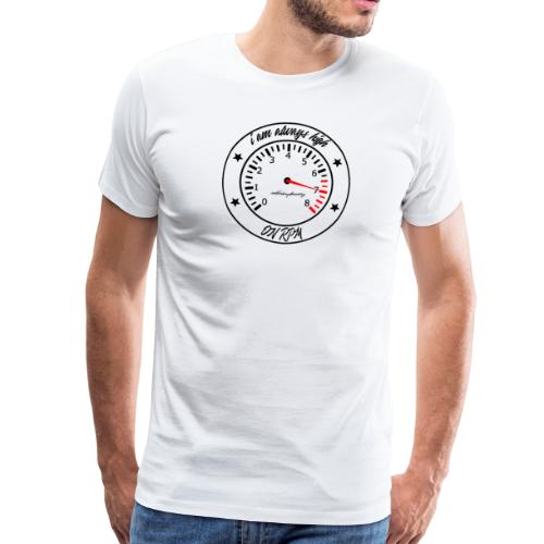 RPM Gauge Shirt Big Logo Black - Männer Premium T-Shirt