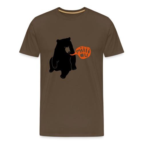 Bär sagt Miau T-Shirt - Männer Premium T-Shirt