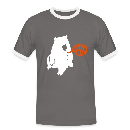 Bär sagt Miau T-Shirt - Männer Kontrast-T-Shirt