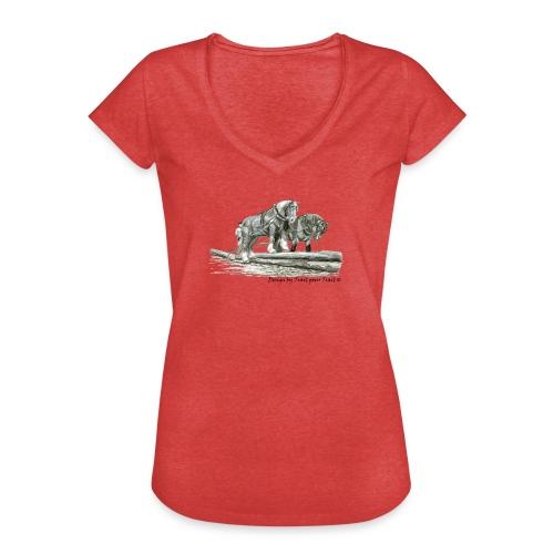 A deux sur les troncs - femme - T-shirt vintage Femme