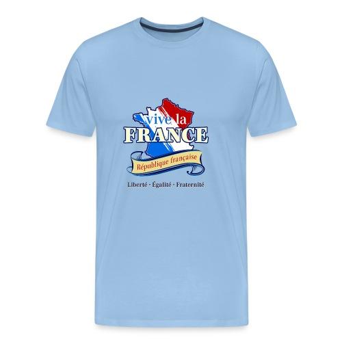 vive la France Republik Frankreich Trikolore Paris - Männer Premium T-Shirt