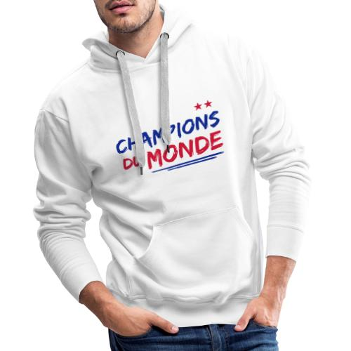 France Champions du Monde 2 étoiles  - Sweat-shirt à capuche Premium pour hommes
