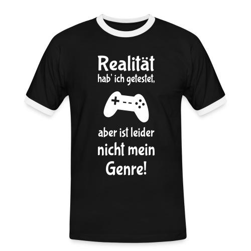 Coole Gamer Nerd Sprüche Zocken Realität T-Shirts - Männer Kontrast-T-Shirt